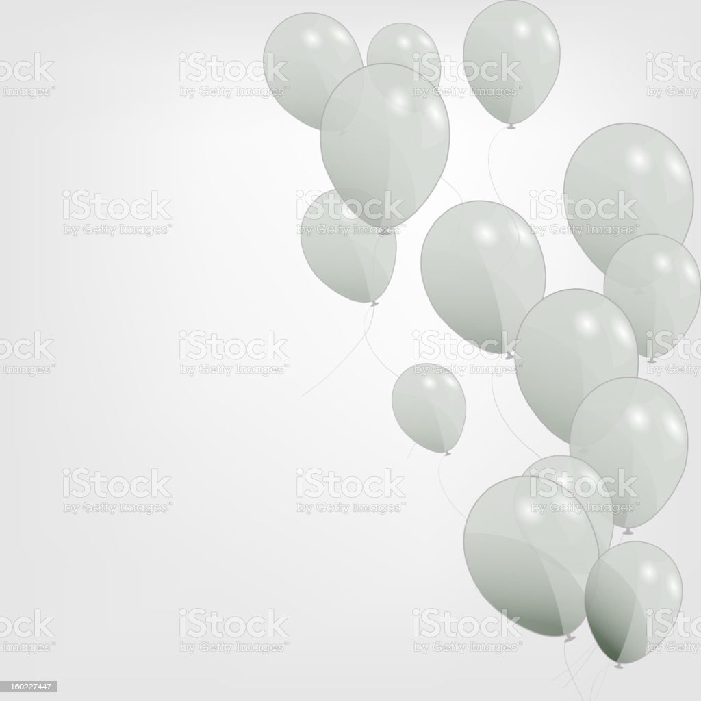 Colored balloons, vector illustration. Eps 10. royalty-free stock vector art