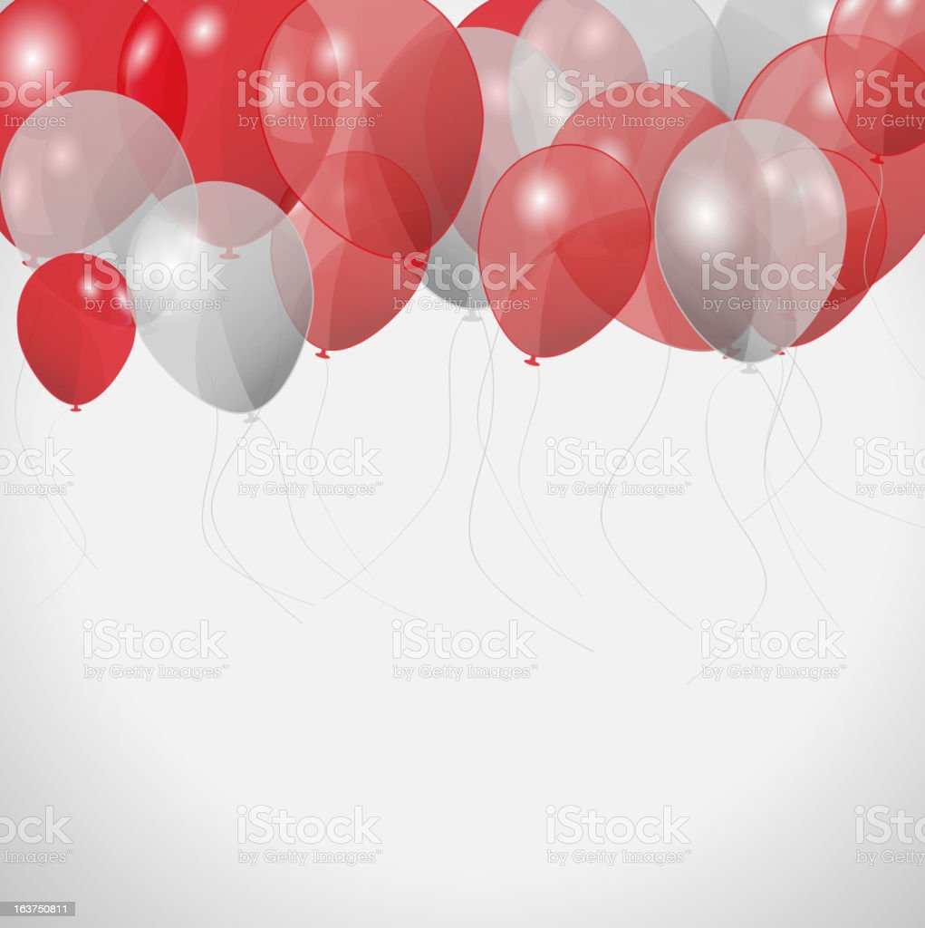 colored balloons, vector illustration royalty-free stock vector art