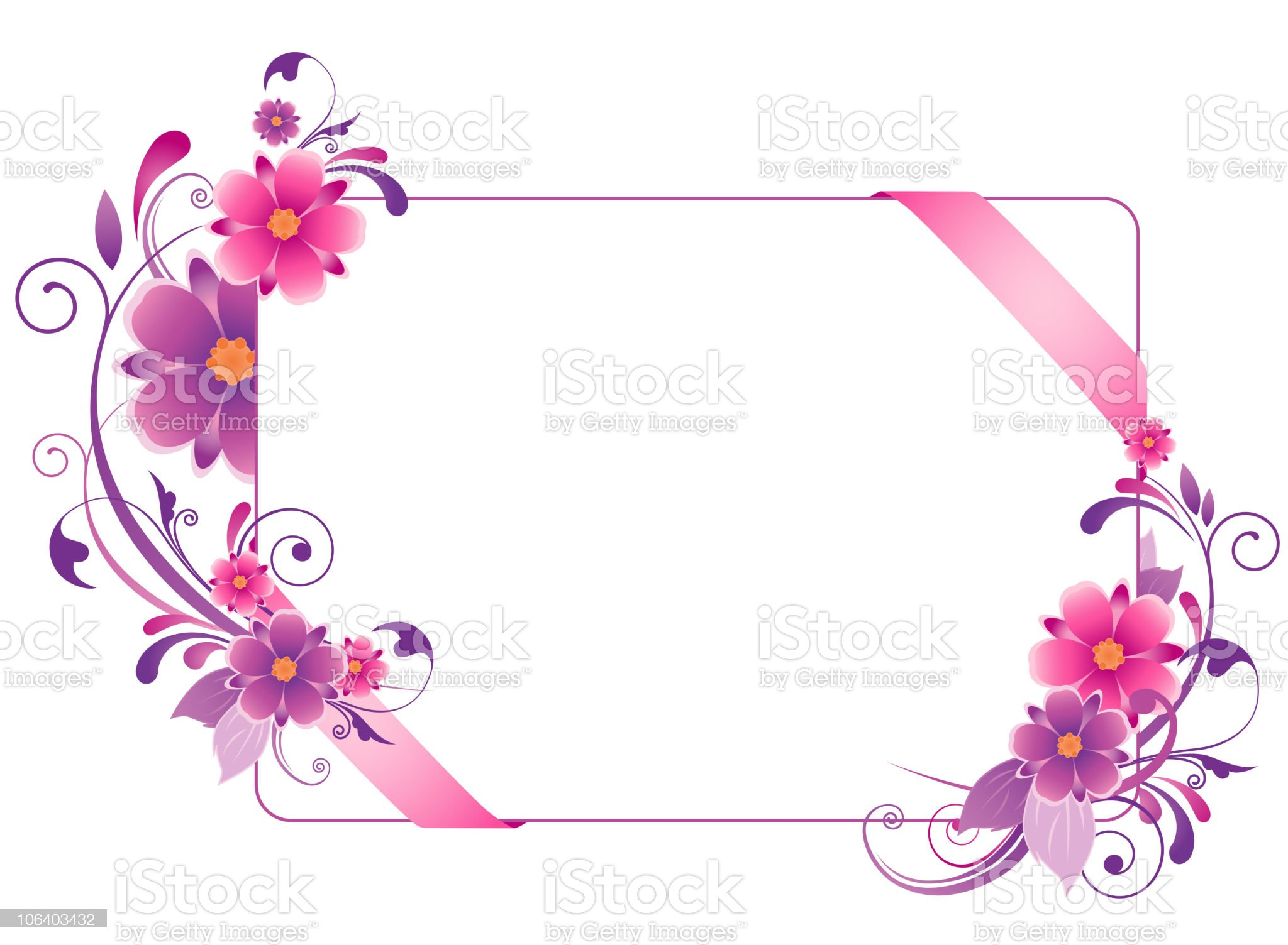 colored  banner with flowers royalty-free stock vector art
