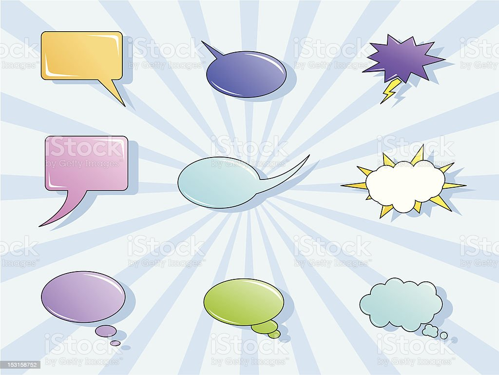 Colored bubbles vector art illustration