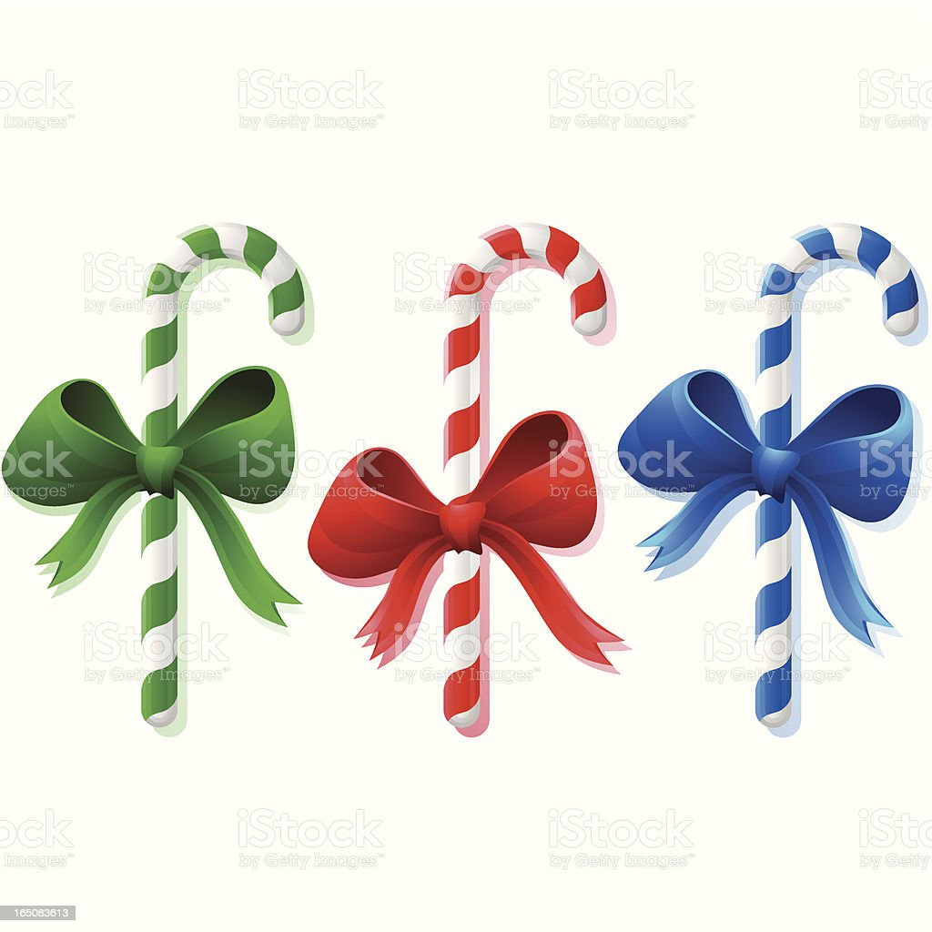 Colored Candy Canes royalty-free stock vector art