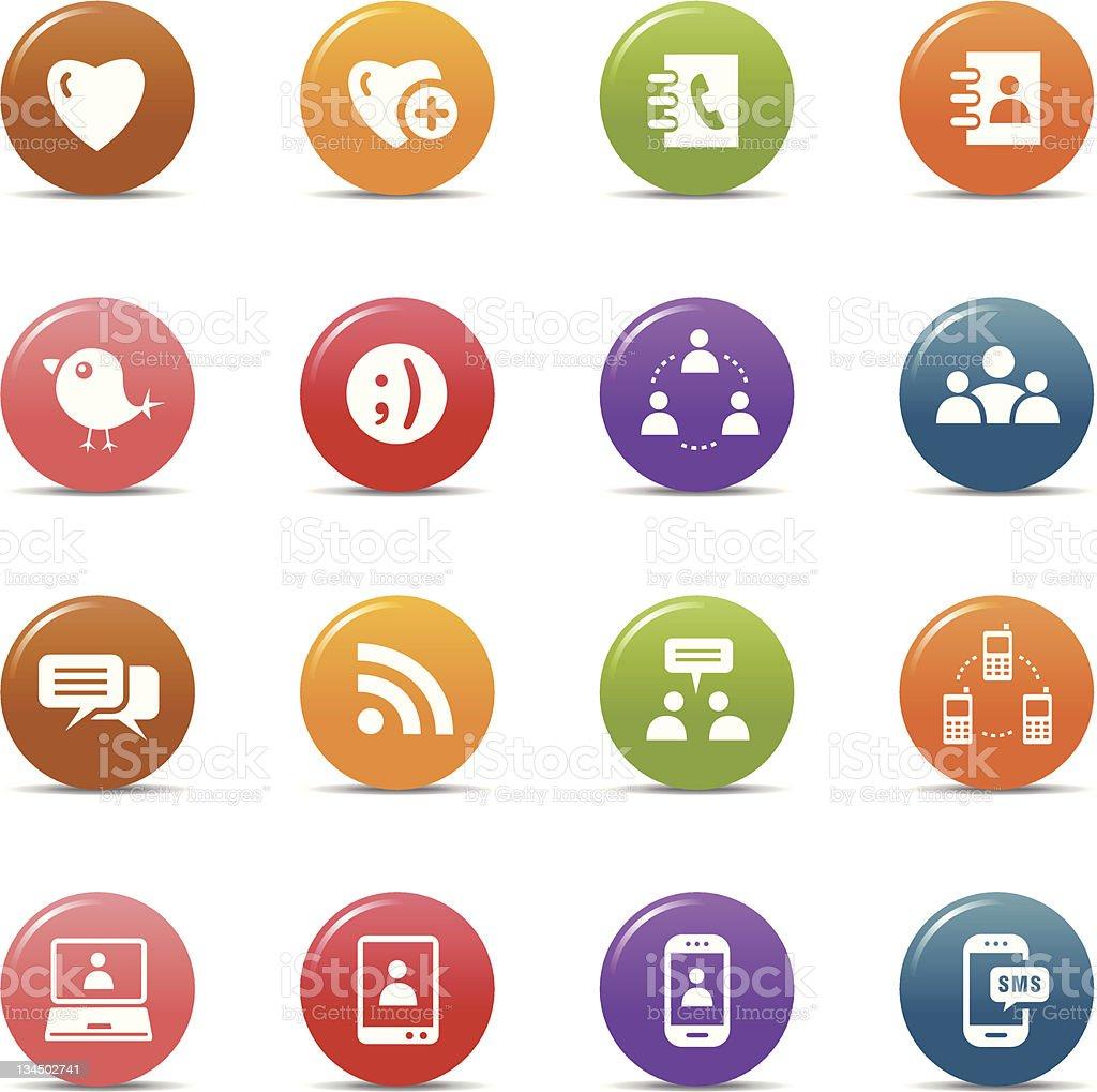 Colored dots - Social media icons royalty-free stock vector art