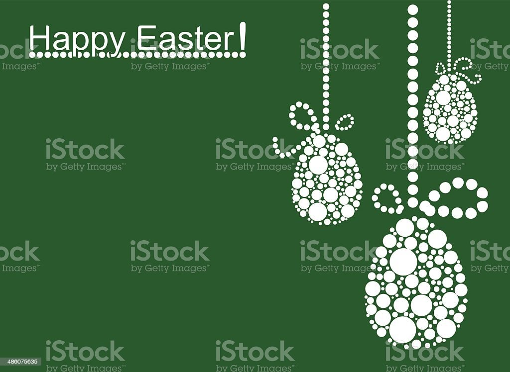 Colored Easter Background royalty-free stock vector art