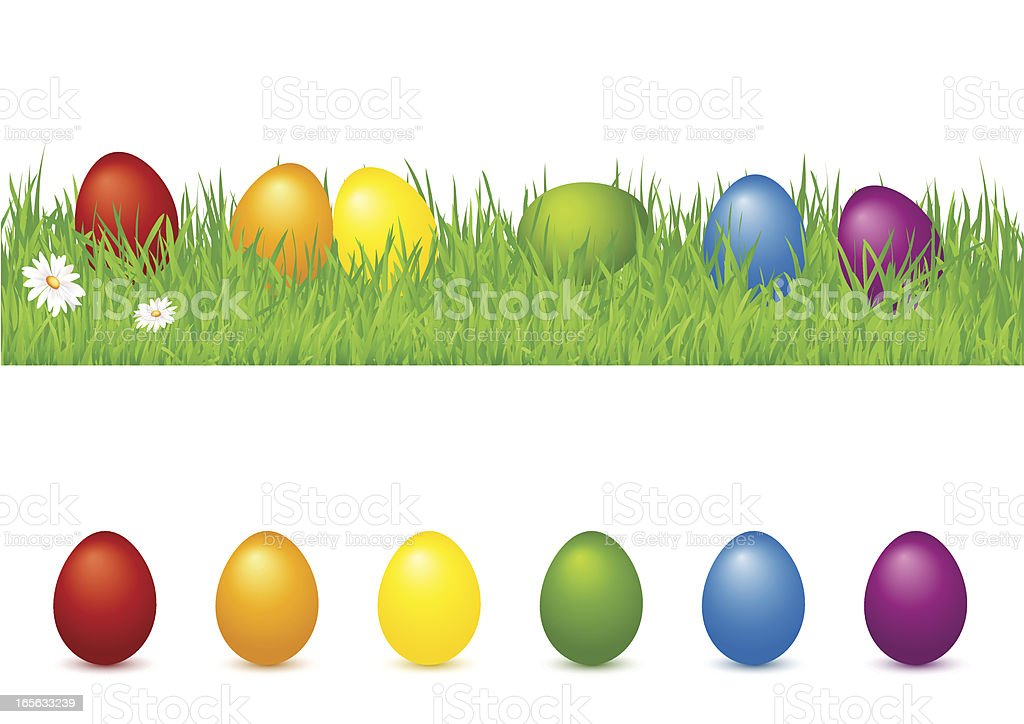 colored easter egg royalty-free stock vector art