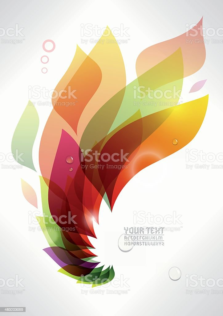 colored flame background vector art illustration