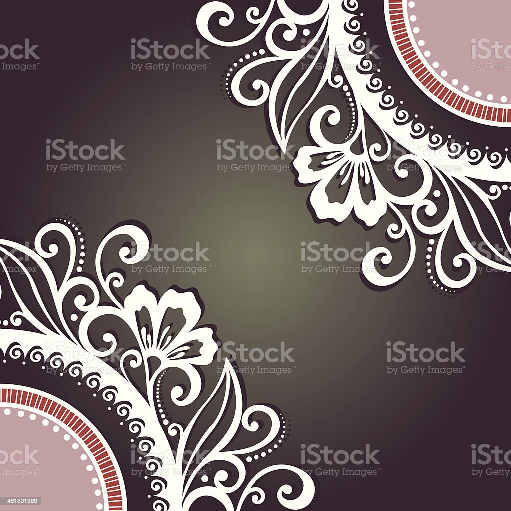 Colored Floral Layout vector art illustration