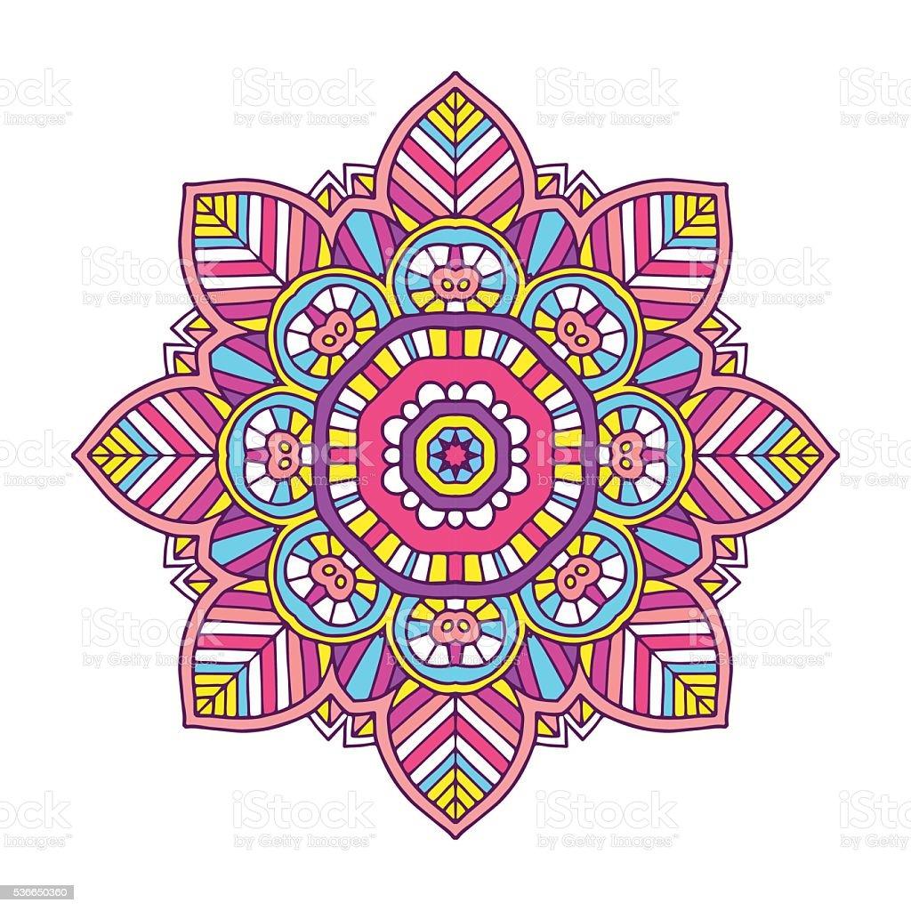 mandala fleurs de couleur stock vecteur libres de droits 536650360 istock. Black Bedroom Furniture Sets. Home Design Ideas