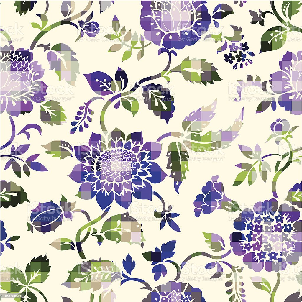 colored floral pattern royalty-free stock vector art