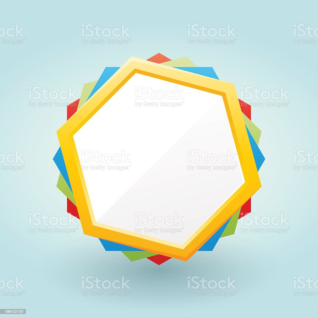 colored frame in the shape of hexa royalty-free stock vector art