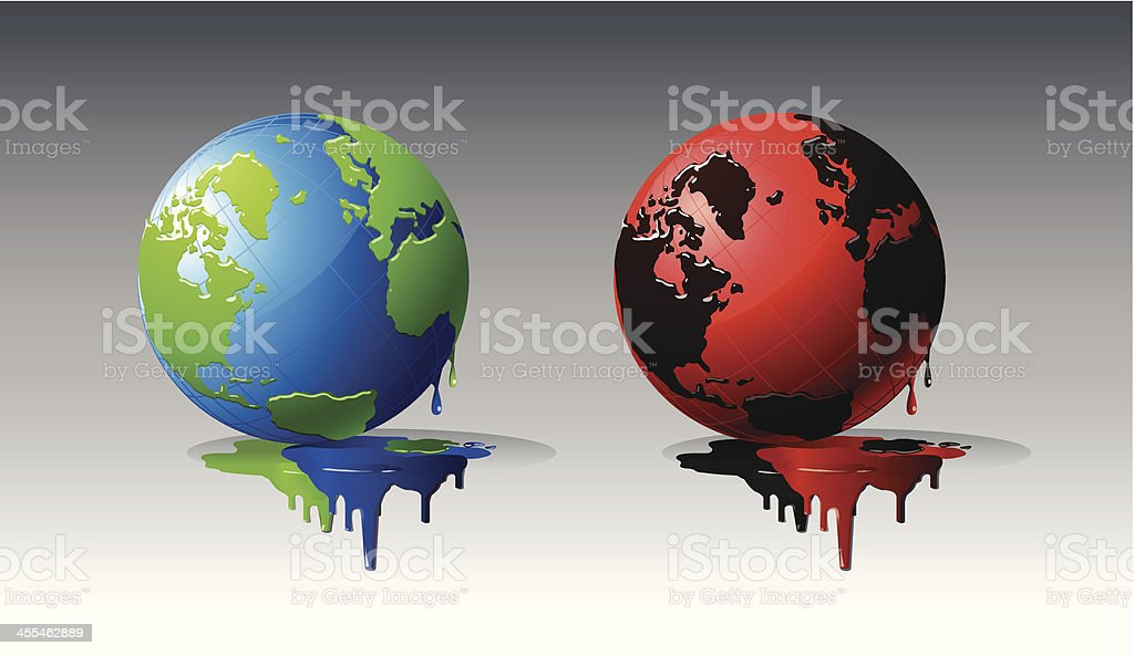 Colored globes royalty-free stock vector art