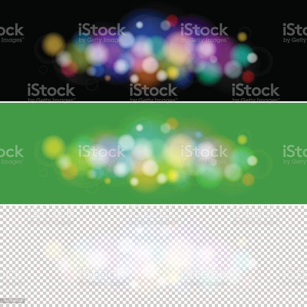 Colored Lights on Green and Black Background vector art illustration