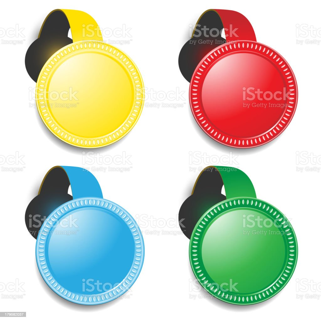 colored medals royalty-free stock vector art