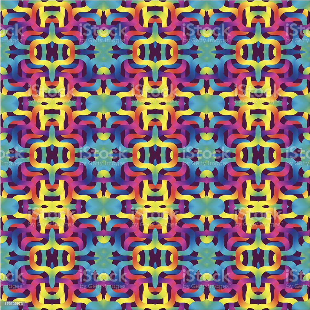 Colored Pattern vector art illustration
