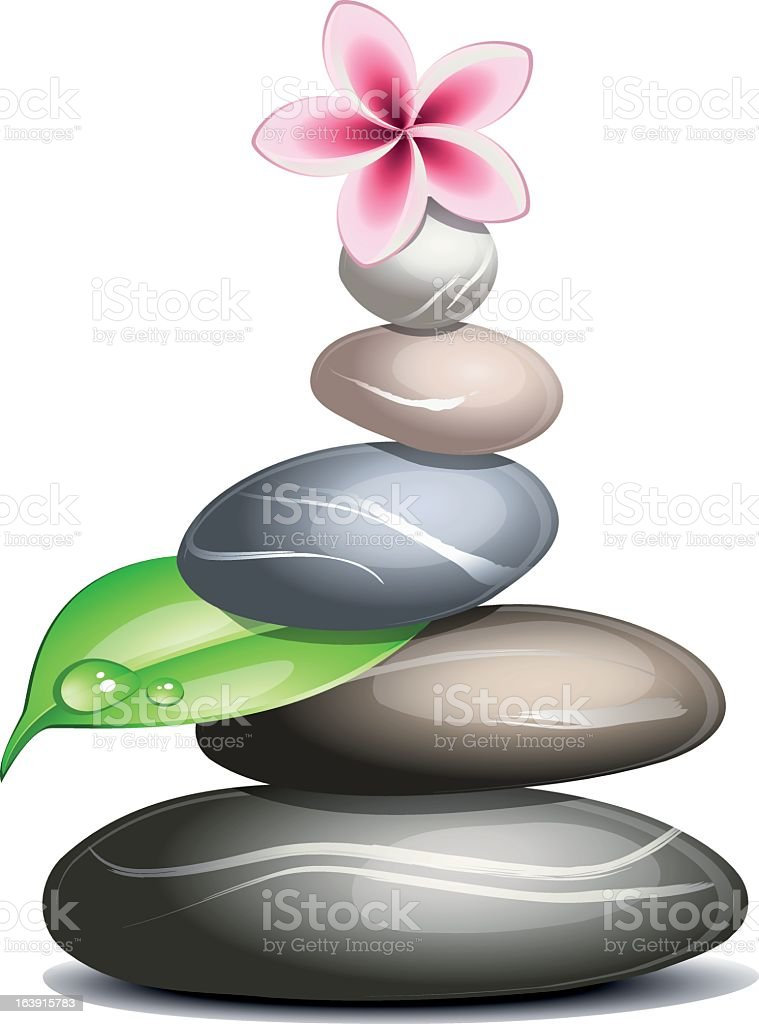 Colored pebbles in a pile vector art illustration