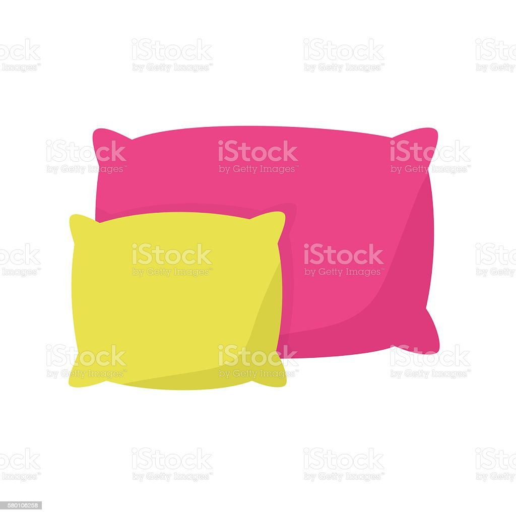 colored pillow, cushion vector illustration vector art illustration