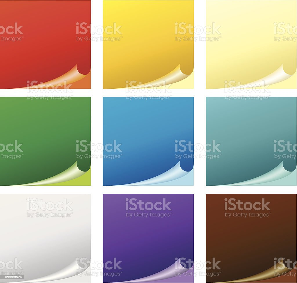 Colored stickers vector art illustration