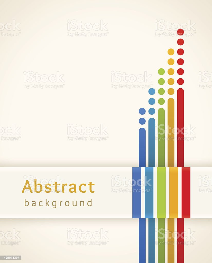 Colored stripes with circles. Abstract background. vector art illustration