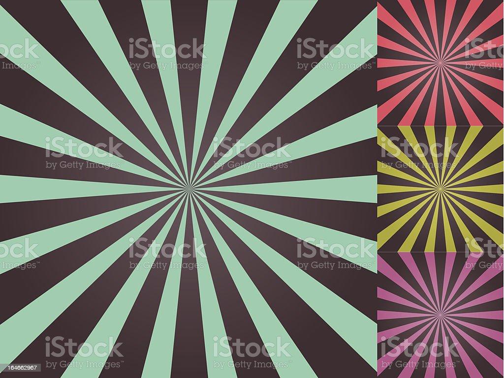 Colored sun burst background royalty-free stock vector art
