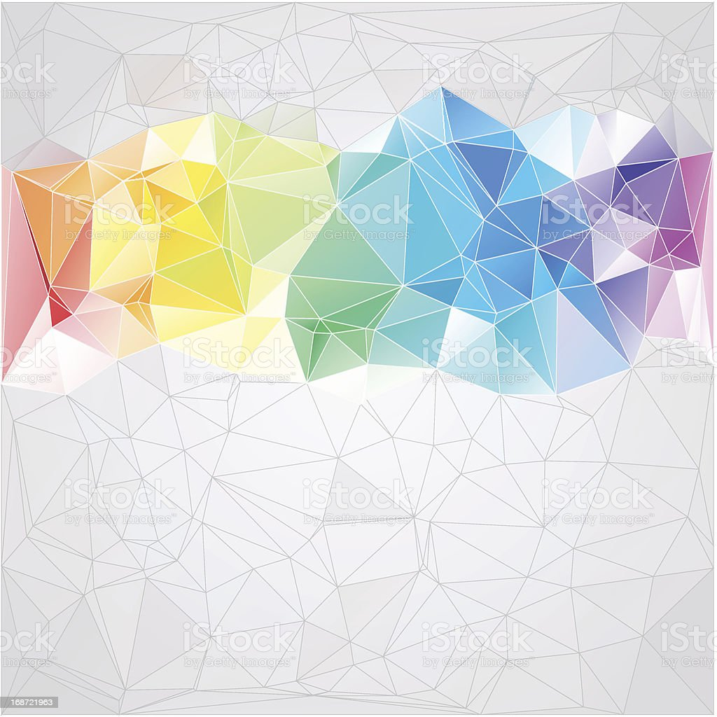 Colored triangular shaped abstract background royalty-free stock vector art