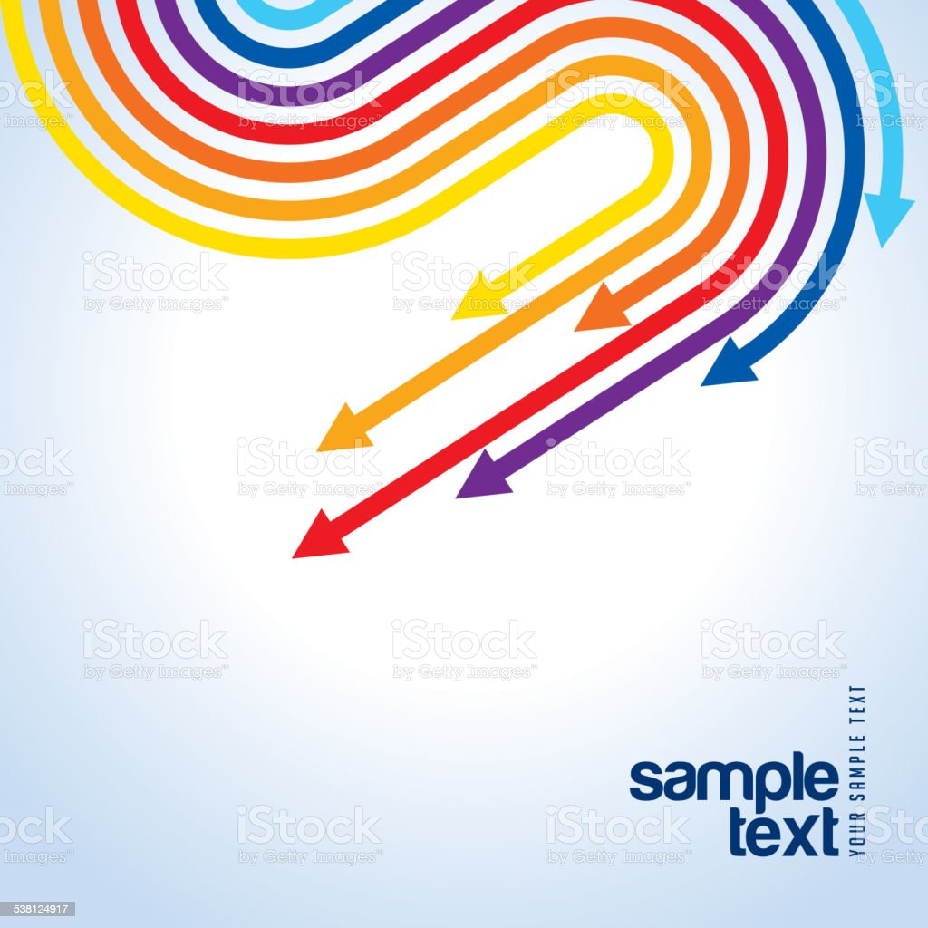 colored vector arrows for cover page stock vector art  1 credit