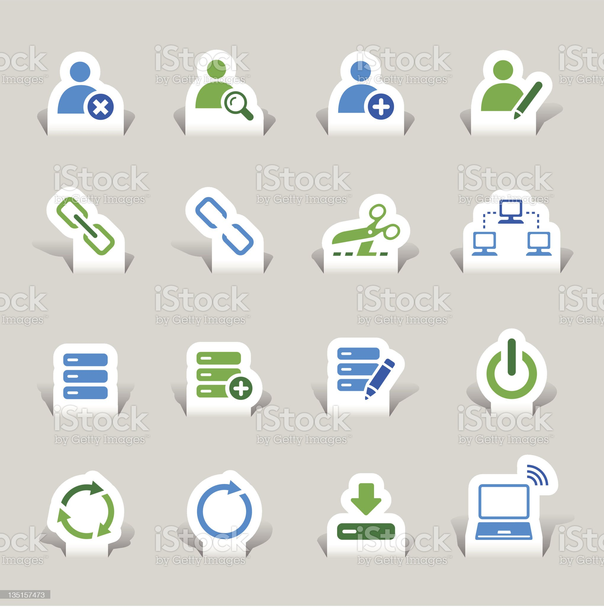 Colored website and internet icons royalty-free stock vector art
