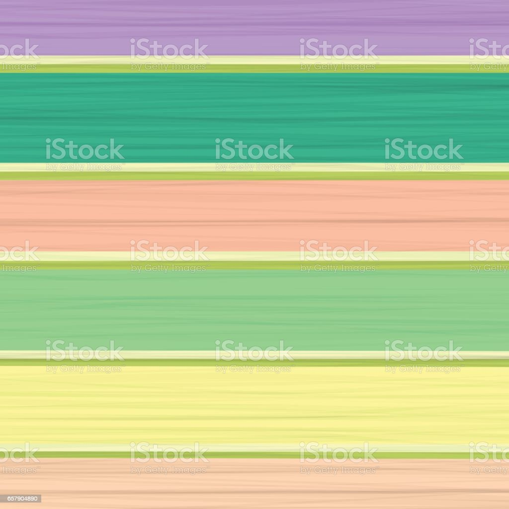 Colored Wood Planks. Colorful Boards vector art illustration