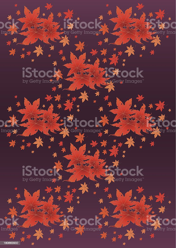 ColoredLeaves_JapaneseMapleDesign_01 royalty-free stock vector art