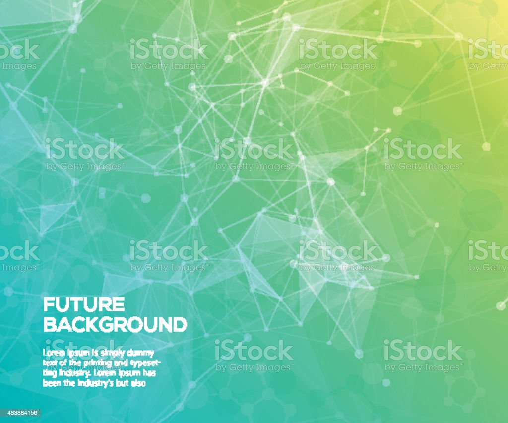 Colorful abstract background. Abstract polygonal  background with connecting dots vector art illustration