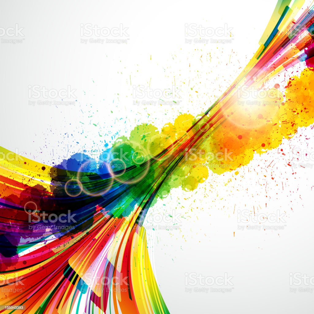 Colorful abstract background made of pixels vector art illustration