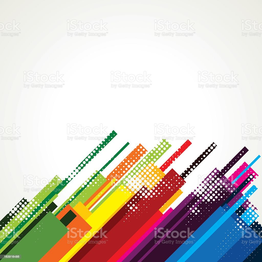 A colorful abstract background vector art illustration
