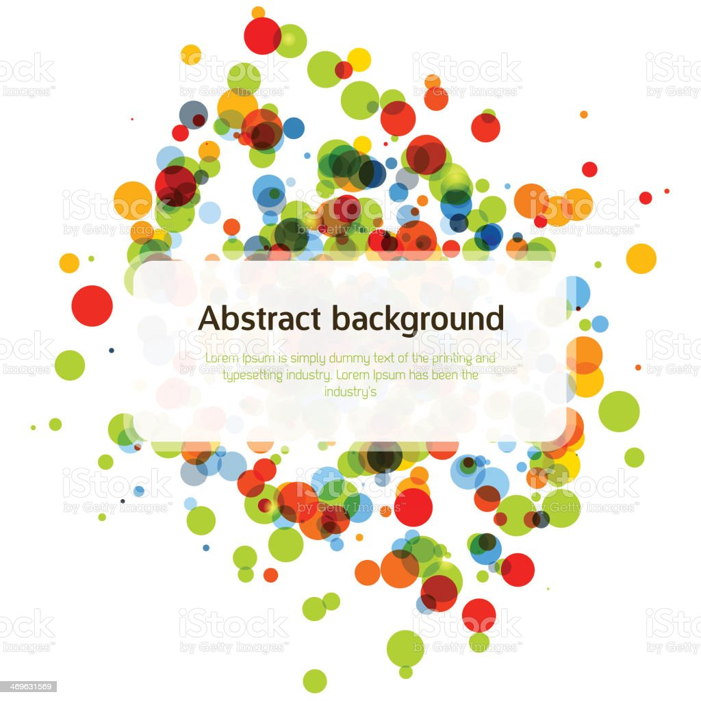 Colorful abstract background. vector art illustration