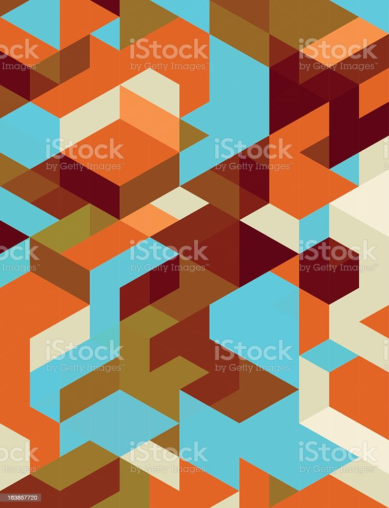 Colorful abstract background with angles in three dimentions royalty-free stock vector art