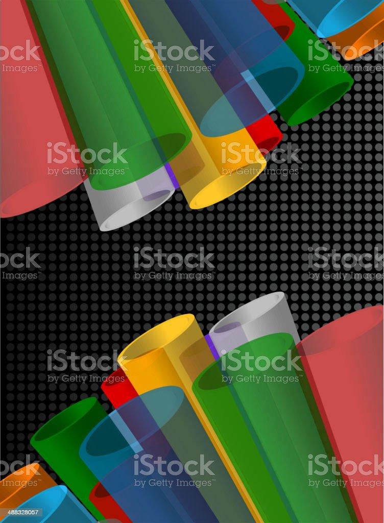 Colorido abstracto de la composición illustracion libre de derechos libre de derechos