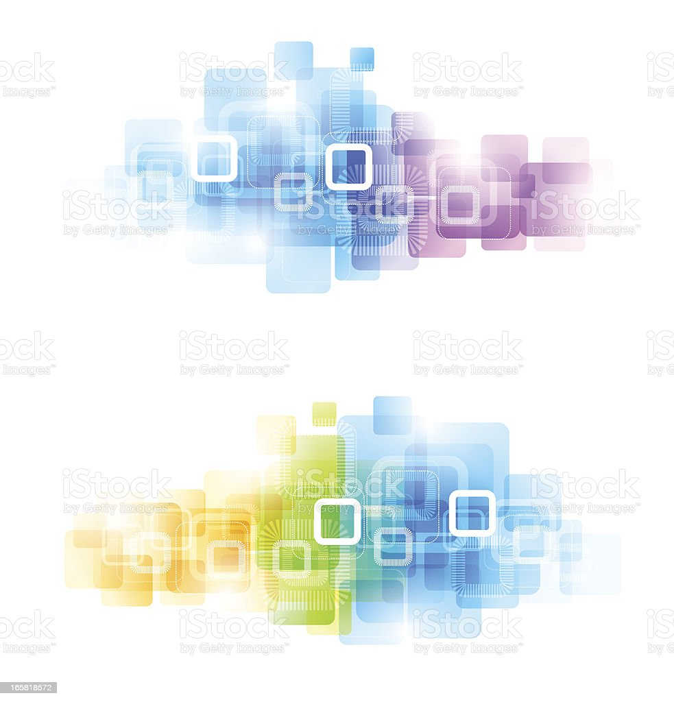Colorful abstract computer generated art composed of squares royalty-free stock vector art