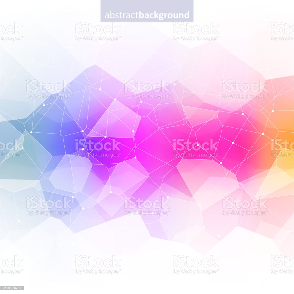 Colorful abstract crystal background. Ice or jewel structure. vector art illustration