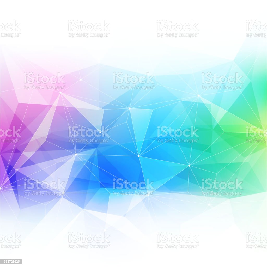 Colorful abstract crystal background. vector art illustration