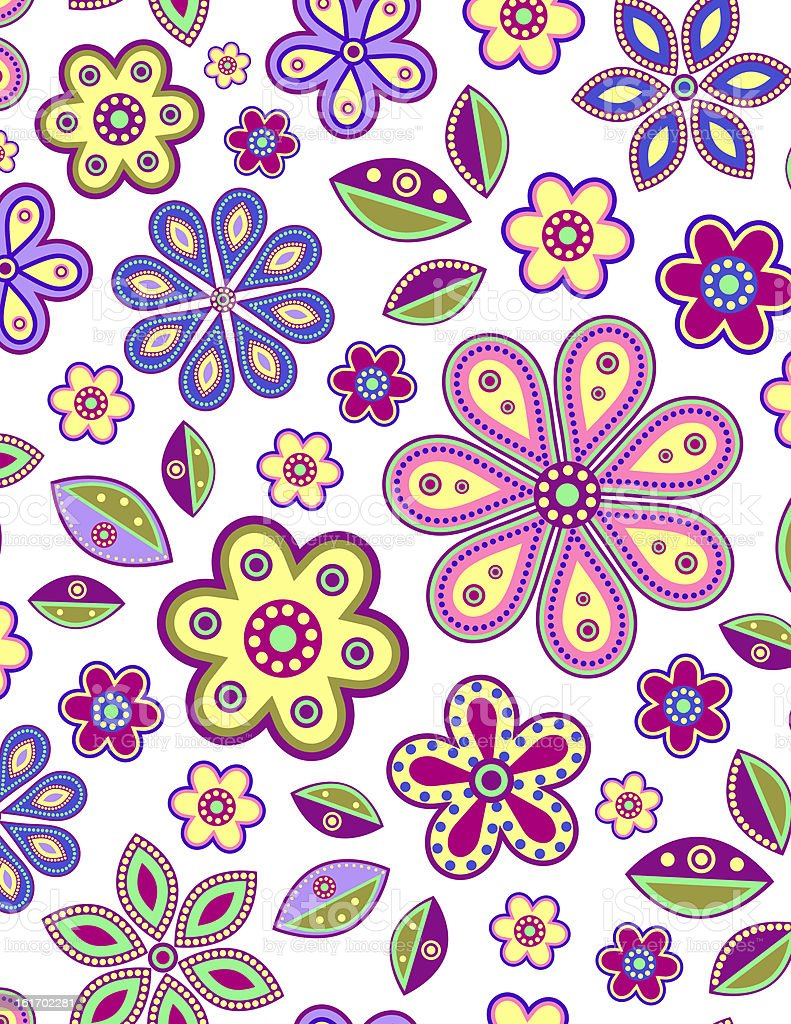 colorful abstract flowers royalty-free stock vector art