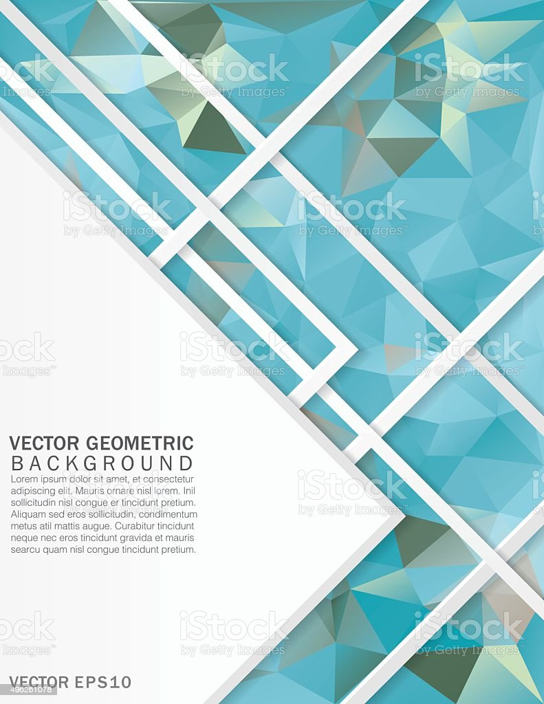 Colorful Abstract Geometric Design Background vector art illustration