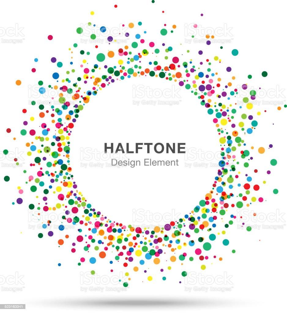 Colorful Abstract Halftone Logo Design Element vector art illustration