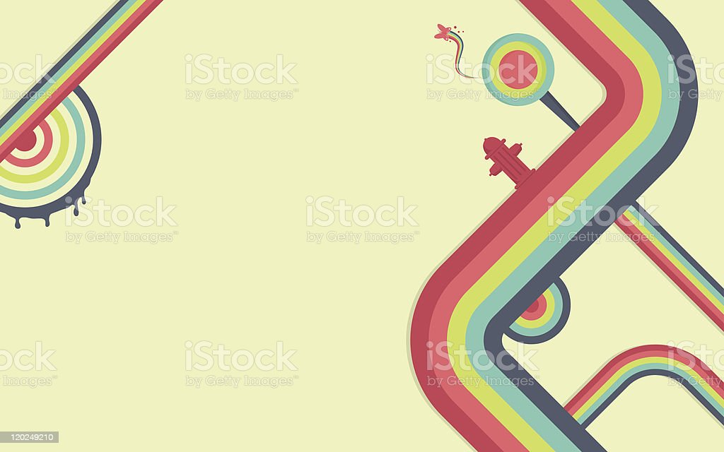 Colorful Abstract Path Background royalty-free stock vector art
