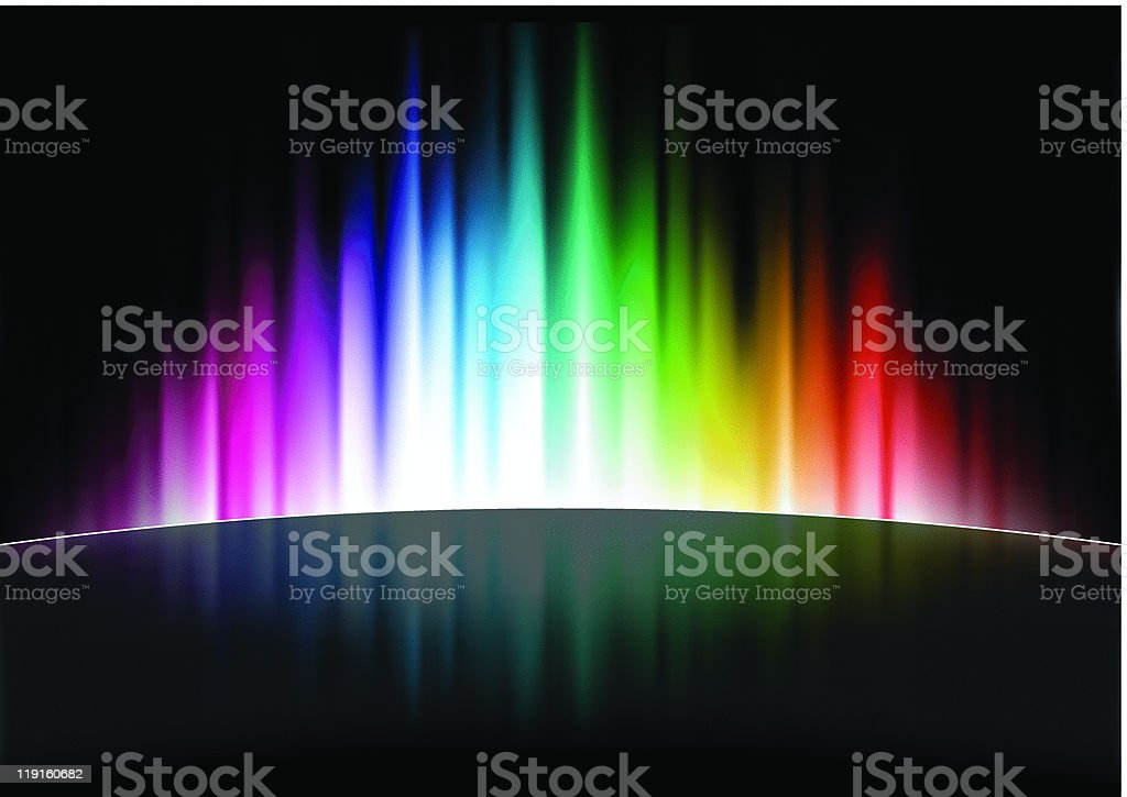 Colorful abstract spectrum wallpaper royalty-free stock vector art