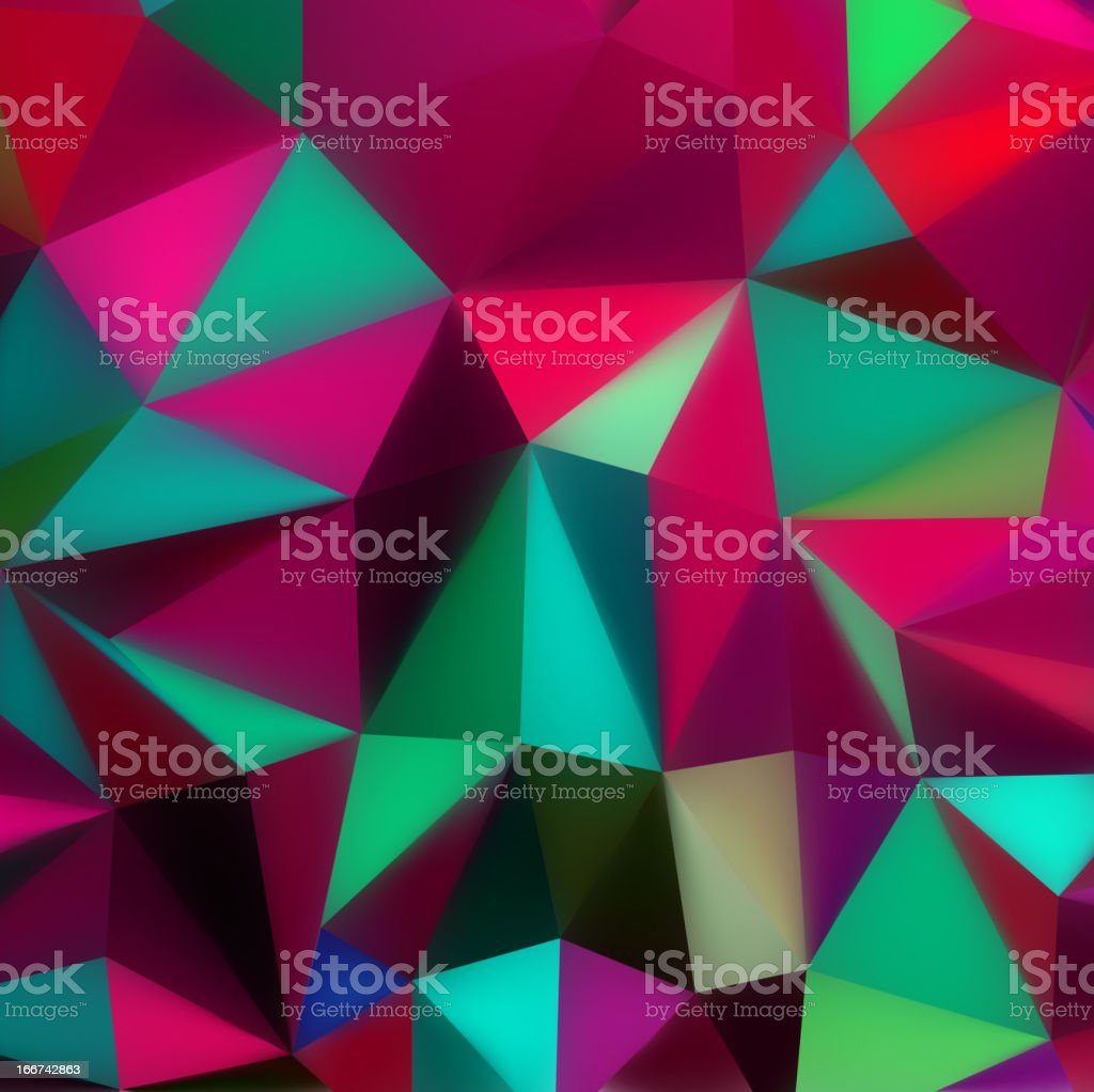 Colorful abstract texture with triangles. EPS 8 royalty-free stock vector art