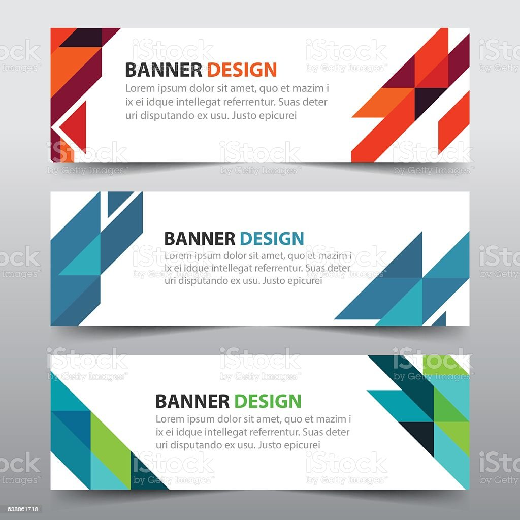 colorful abstract triangle corporate business banner template 1 credit