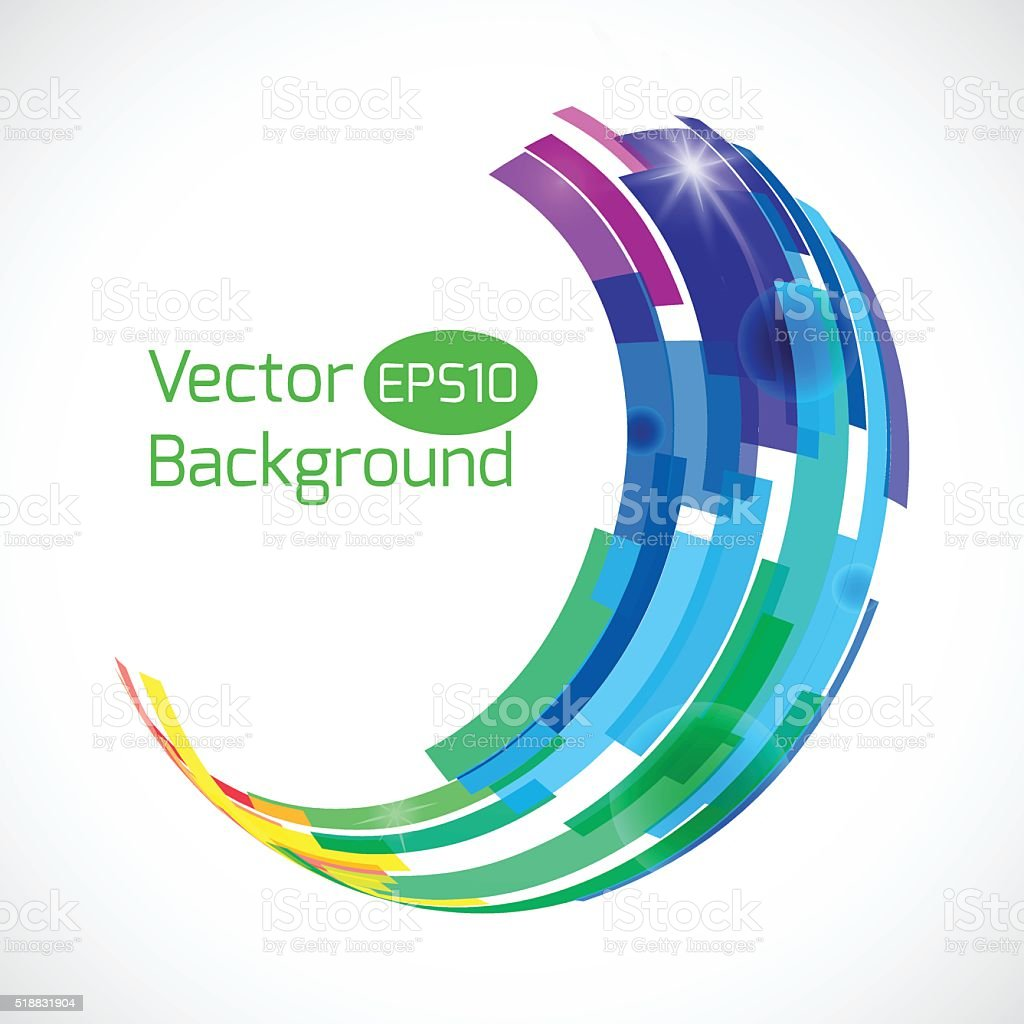 Colorful abstract vector background. Abstract technology 3d circle. vector art illustration