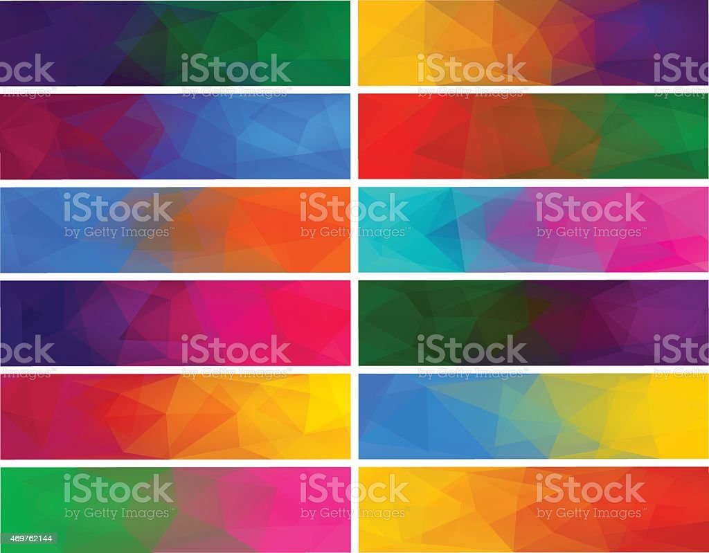 Colorful abstract vector polygonal backgrounds for banner vector art illustration
