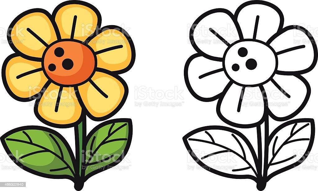 Colorido Y Blanco Y Negro Florales De Libro Para Colorear ...