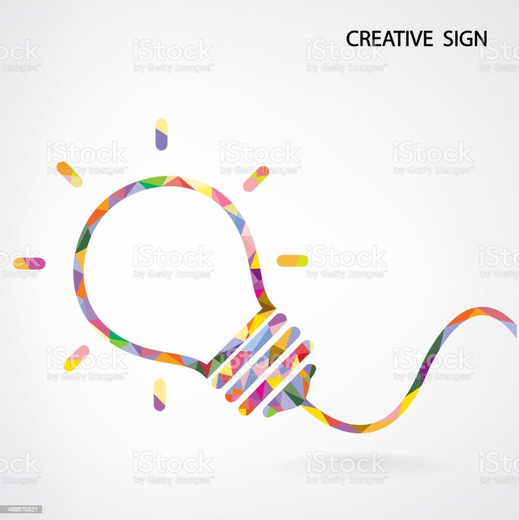 Colorful and creative light bulb illustration vector art illustration
