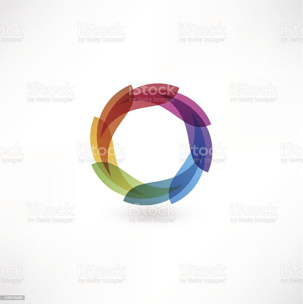 Colorful and vibrant circle vector art illustration