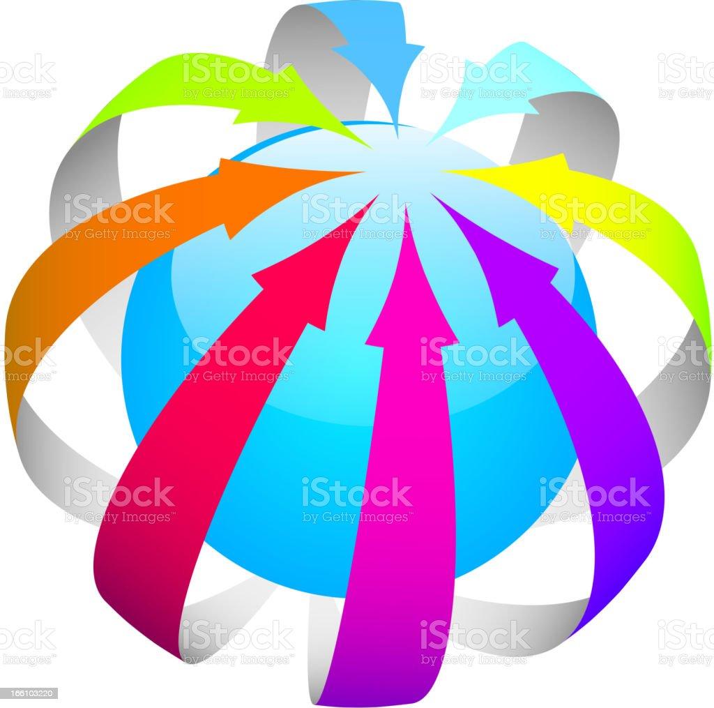 Colorful arrows ball royalty-free stock vector art