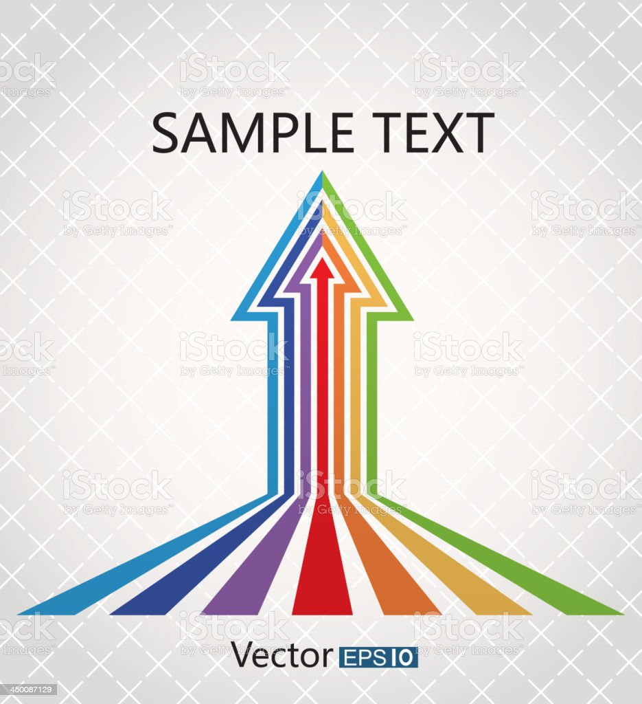 Colorful arrows vector art illustration